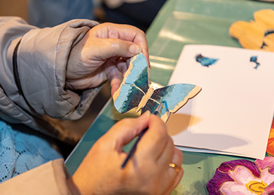Butterfly being hand painted